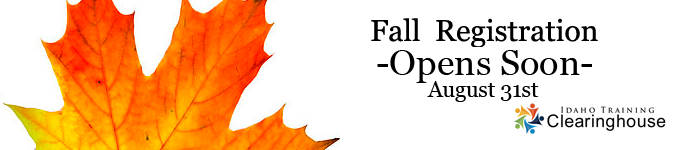 Fall Registration opens August 31