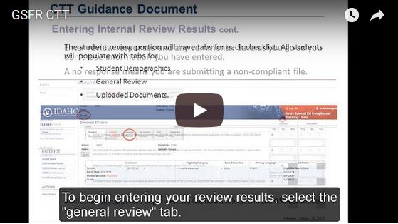 GSFR Compliance Tracking Tool Video